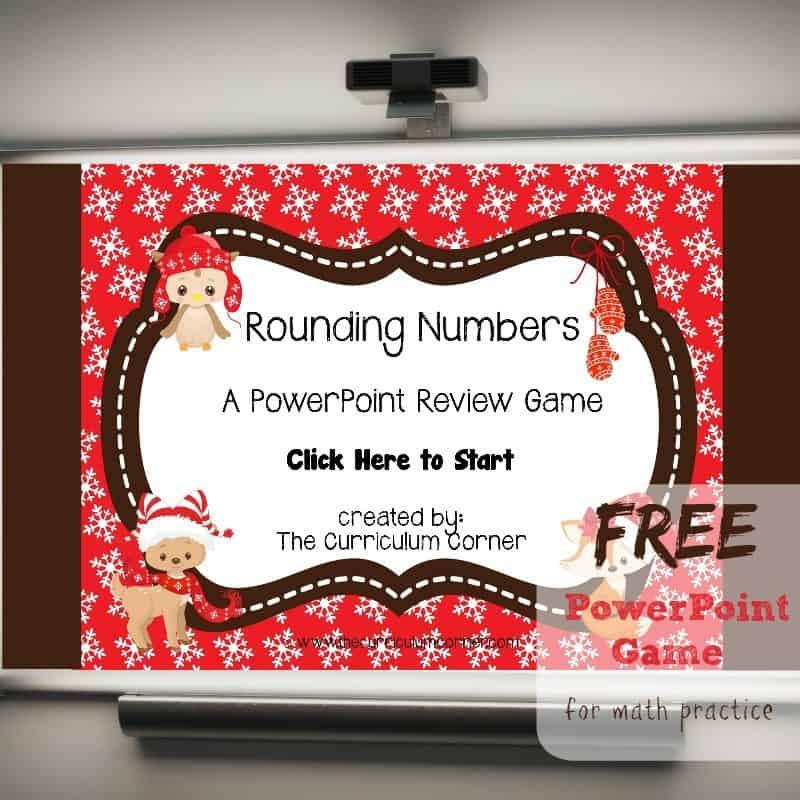 Winter Animals Rounding PowerPoint Game