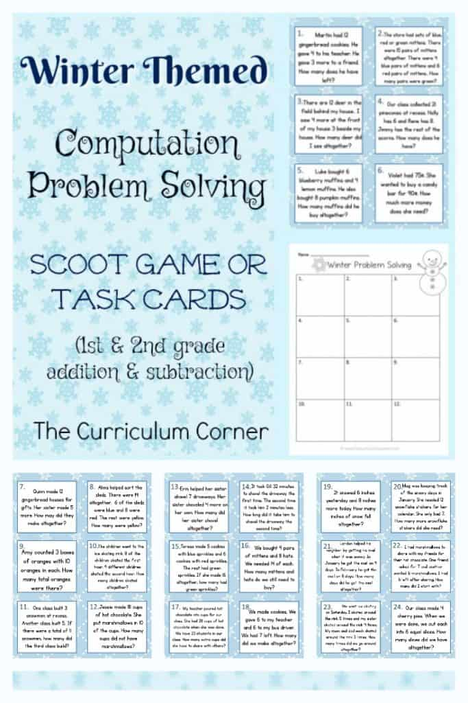 Winter Problem Solving Practice Problems