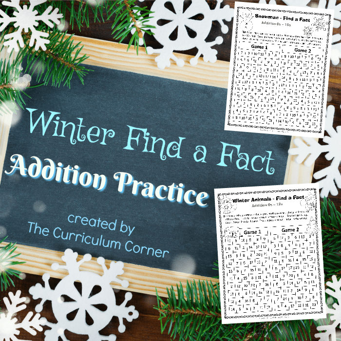Winter Find a Fact Addition