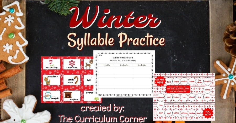 Winter Syllable Practice