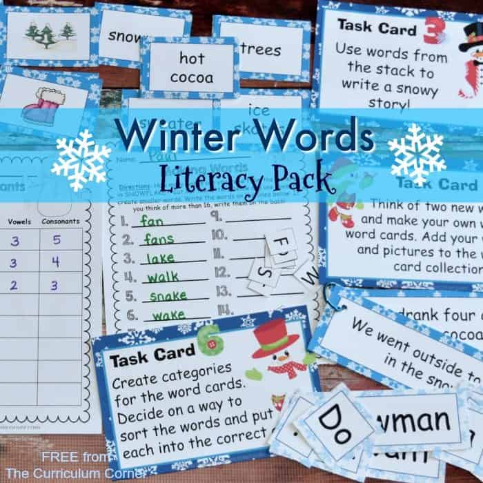 Winter Words Literacy Set
