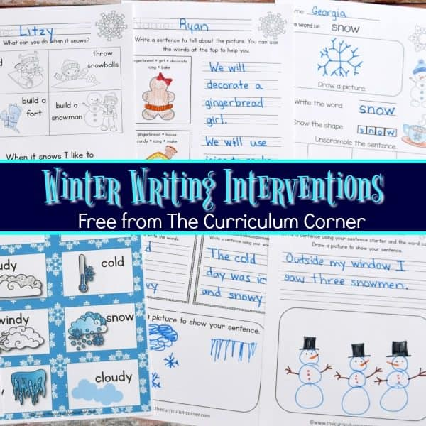 Winter Writing Interventions