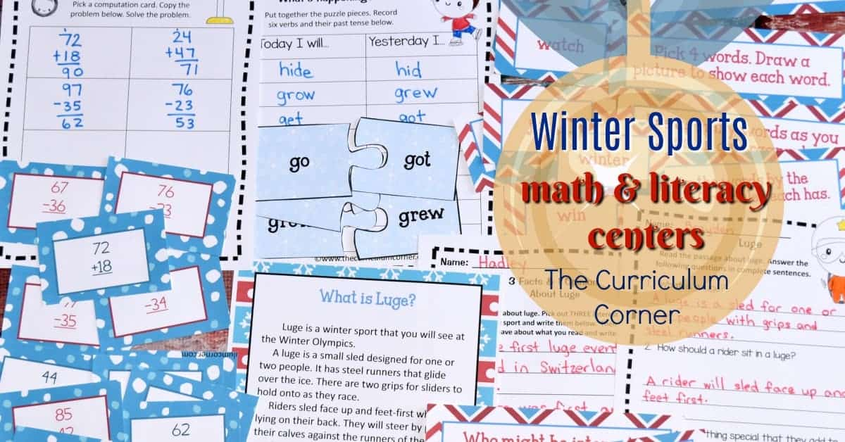 Winter Sports Math & Literacy Centers