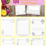 We have created a set of 100 spring lined papers with spring themed clip art to be used during your writing workshop. 3
