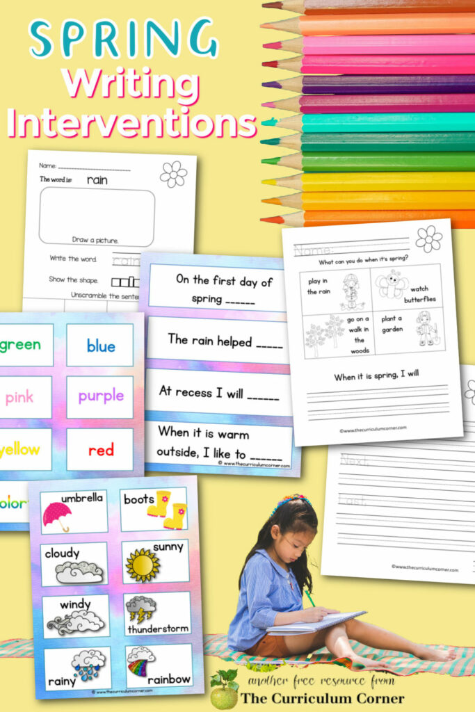 These spring writing interventions will help you build an engaging writing space in your classroom for all students.