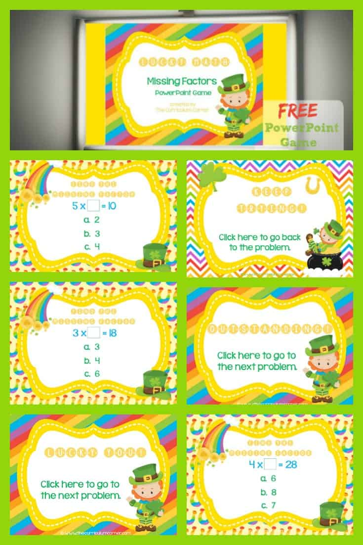 St. Patrick's Day PowerPoint Game