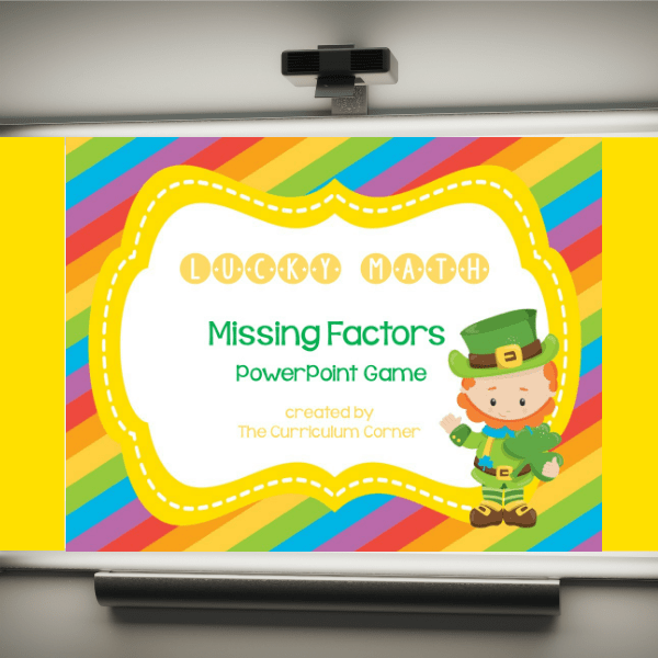 Missing Factors Lucky PowerPoint Game