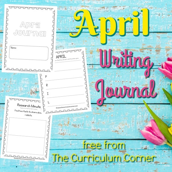 FREE April Writing Journal