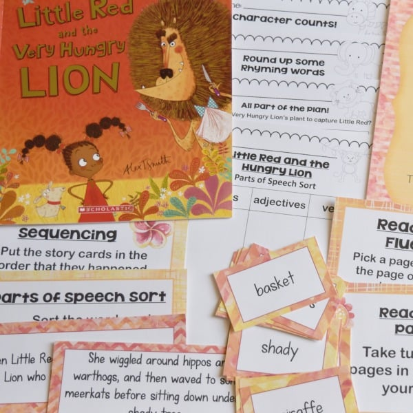 Book Study: Little Red and the Very Hungry Lion
