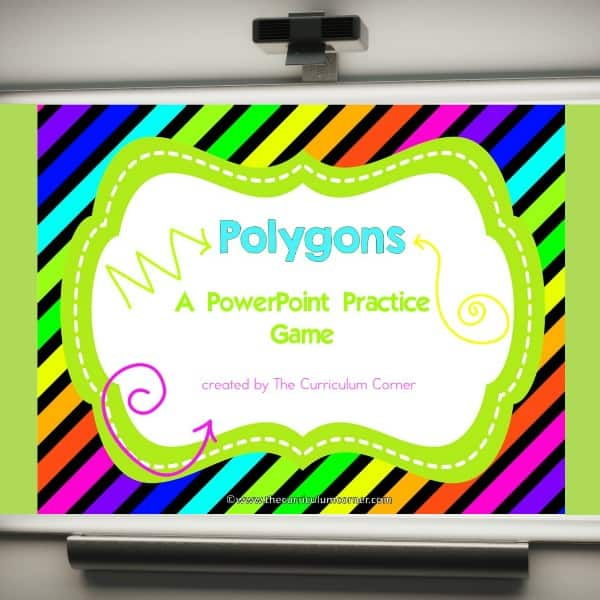 FREE Polygons Geometry Game from The Curriculum Corner 2