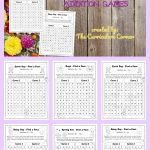 Spring Find a Fact Addition Practice Games FREE