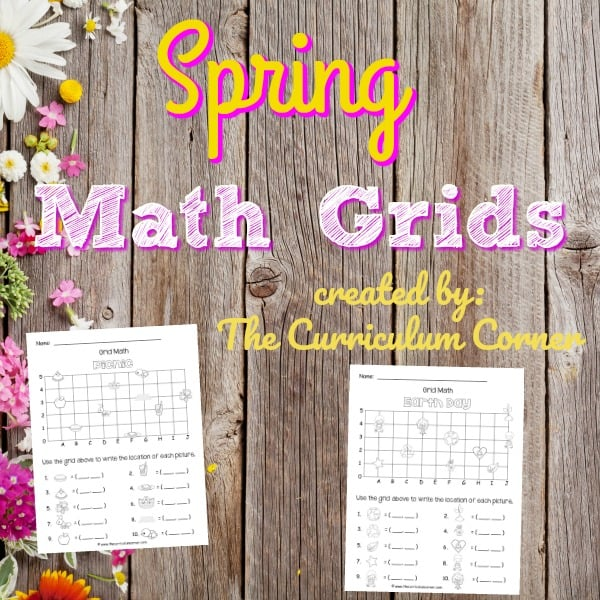 Spring Math Grids (Coordinate Grid)
