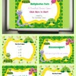FREE Reptile Themed Multiplication Facts PowerPoint Game 1