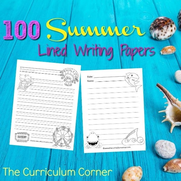 Summer Lined Writing Papers