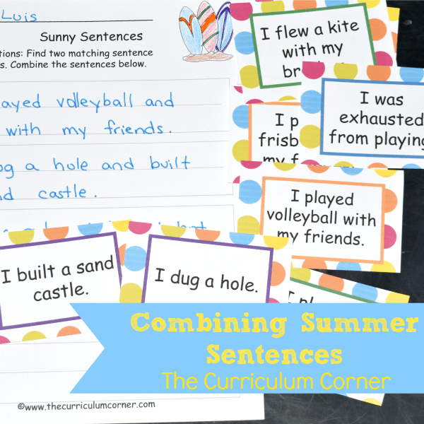 Writing Center: Combining Summer Sentences