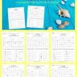FREE Summer Math Grids from The Curriculum Corner