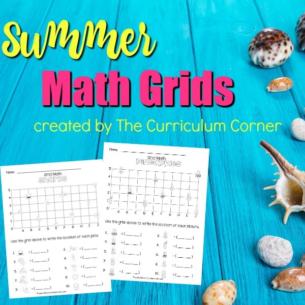 Summer Math Grids (Coordinate Grids)