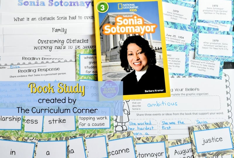 Book Study National Geographic Kids Readers: Sonia Sotomayor A collection of resources to help your students learn about Sonia Sotomayor through reading.