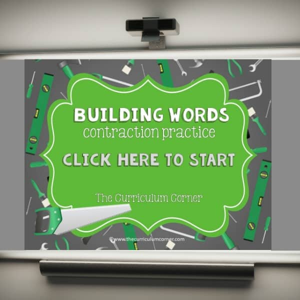 contraction PowerPoint game free from The Curriculum Corner
