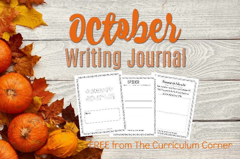 This October writing journal is designed for your primary classroom. Use the pages to create journals or individually for October writing prompts.