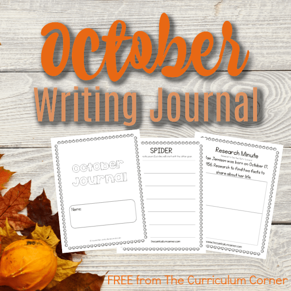 October Writing Journal