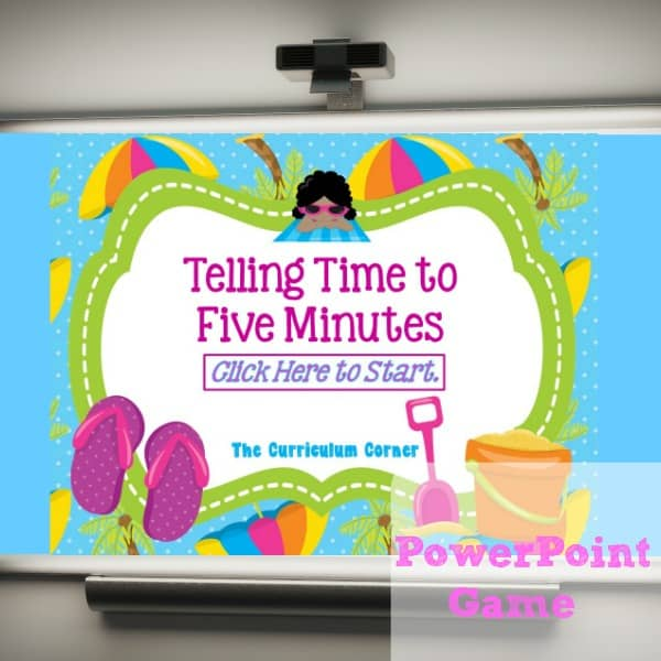 Telling Time to Five Minutes PowerPoint Game