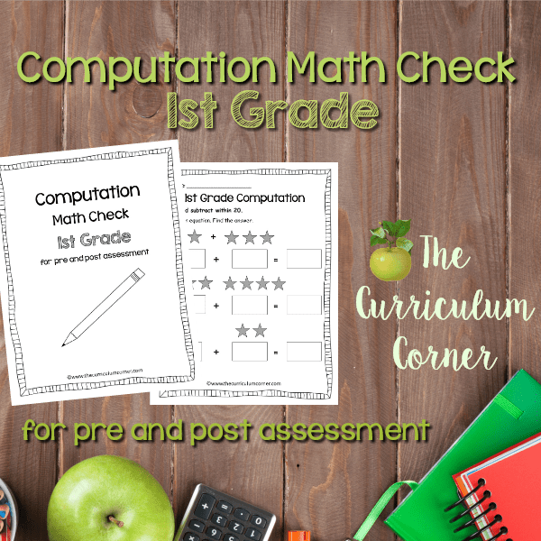 Math Check: 1st Grade Computation
