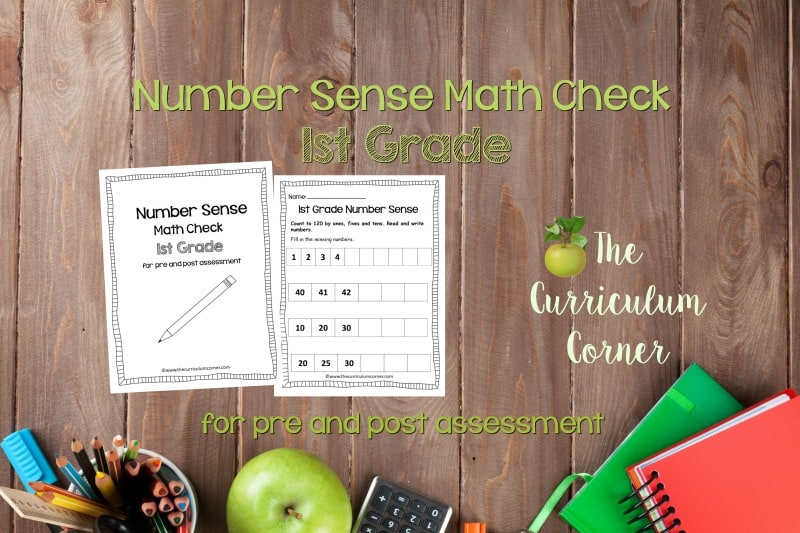 This 1st Grade Number Sense Math Check is designed to be a pre and post assessment for number sense standards in your math classroom.