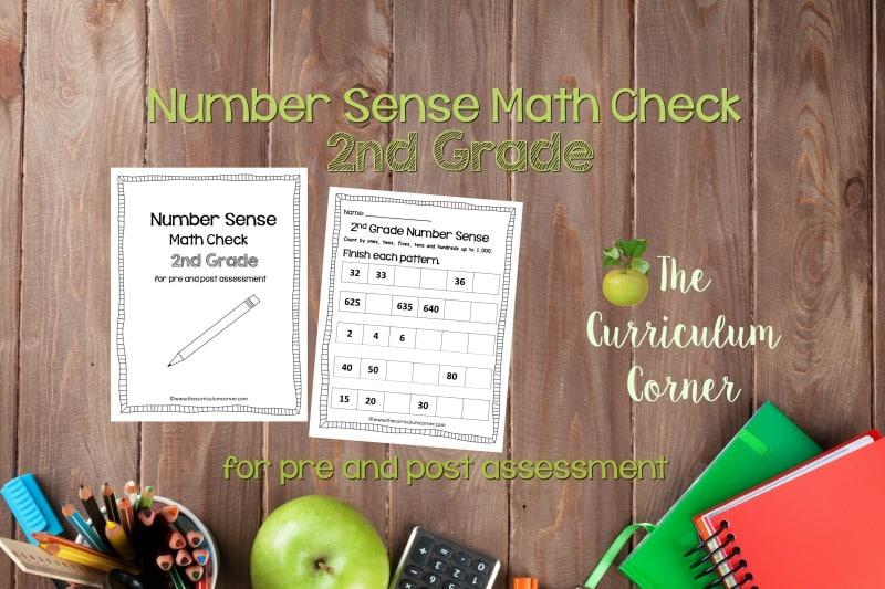 This 2nd Grade Number Sense Math Check is designed to be a pre and post assessment for number sense standards in your math classroom.