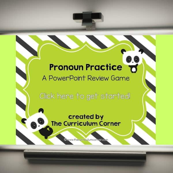 Pronouns PowerPoint Game