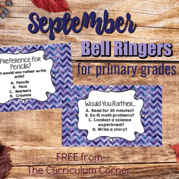 September Bell Ringer Questions