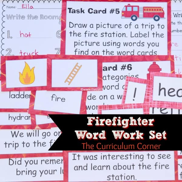 Firefighter Word Work