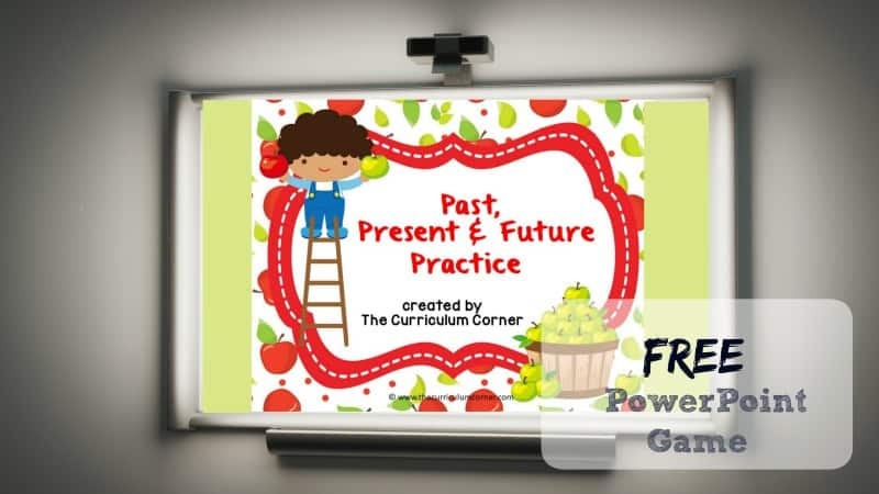 Use this Verb Tense PowerPoint Practice Game to give your students practice identifying past, present and future verbs during your literacy stations.