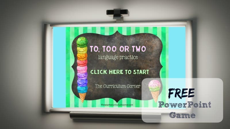 This To, Two, Too PowerPoint game is designed to give your students practice with choosing the correct word in sentences.