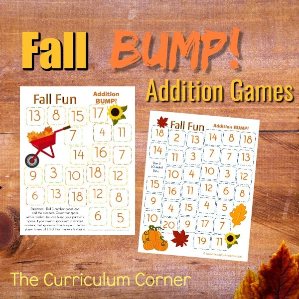 Fall Addition Bump Games
