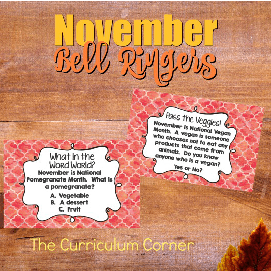 November Bell Ringer Questions