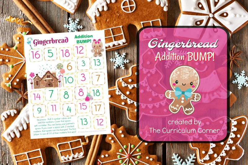 This set of free Gingerbread Addition BUMP! Games have been created to help your students work on mastering their addition facts.
