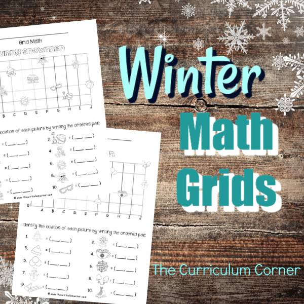 Winter Math Grids (Coordinate Grids)