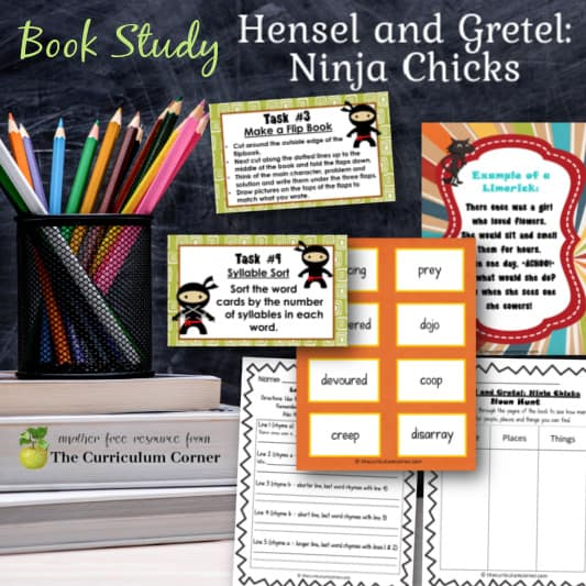 Book Study: Hensel and Gretel Ninja Chicks