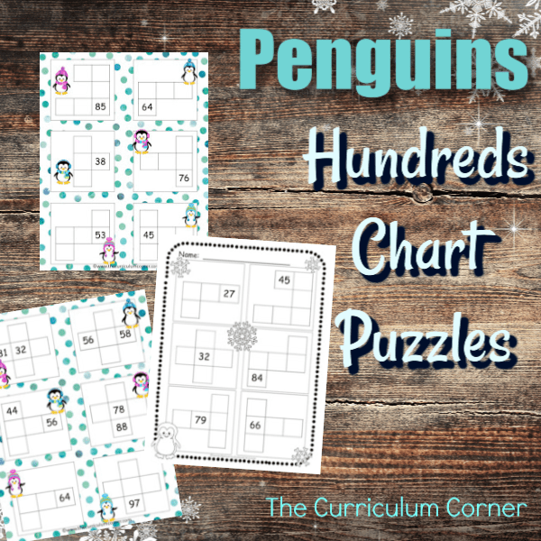 Penguins Hundreds Chart Puzzles