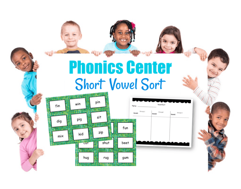 This short vowel sort activity can be a great to use as a center for your beginning readers who need practice with vowel sounds.
