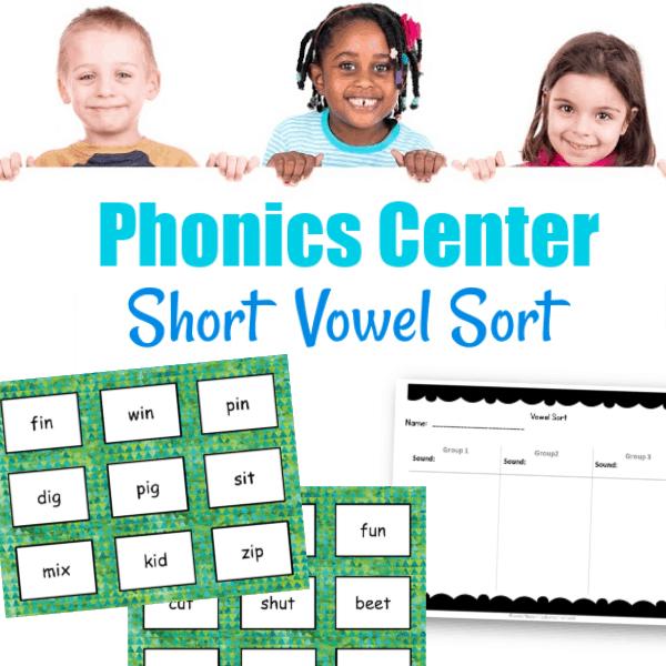 Short Vowel Sort Center