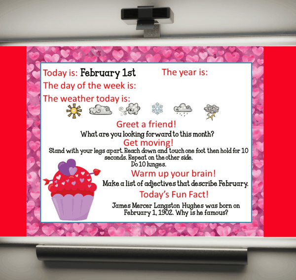 February Daily Welcome Messages