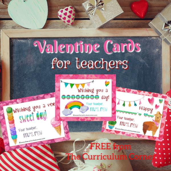 Editable Teacher Valentine Cards