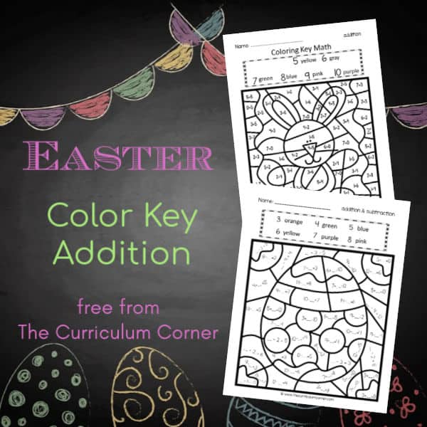Easter Color Key (add/ subtract)