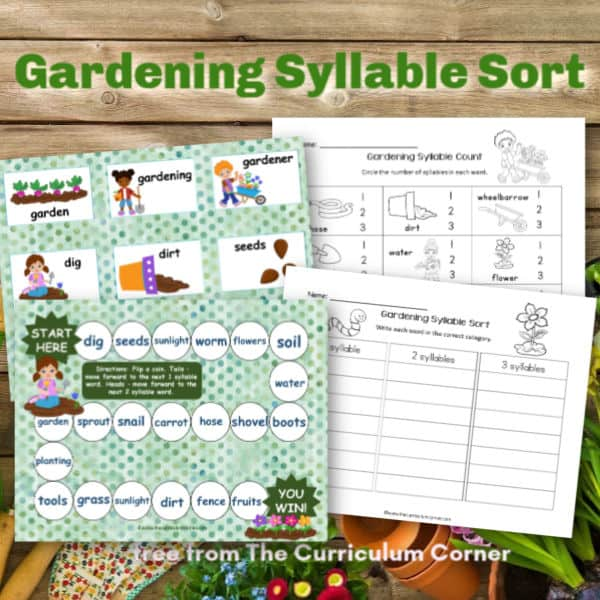 Gardening Syllable Sort