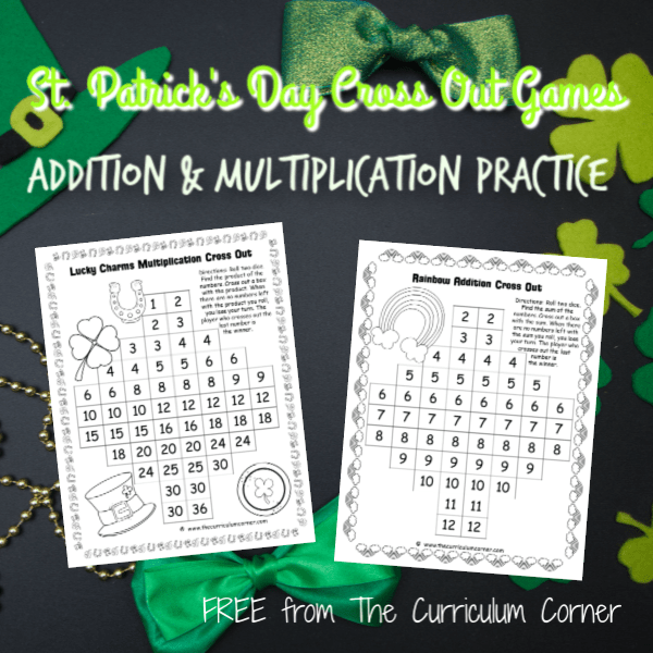 St. Patrick's Day Cross Out Games