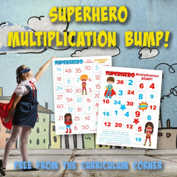 Superhero Multiplication BUMP!