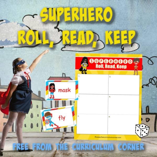 Superhero Roll, Read, Keep