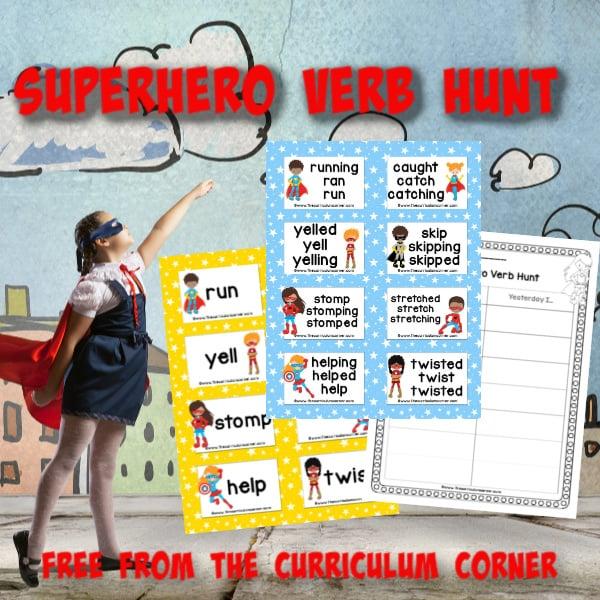 Superhero Verb Hunt